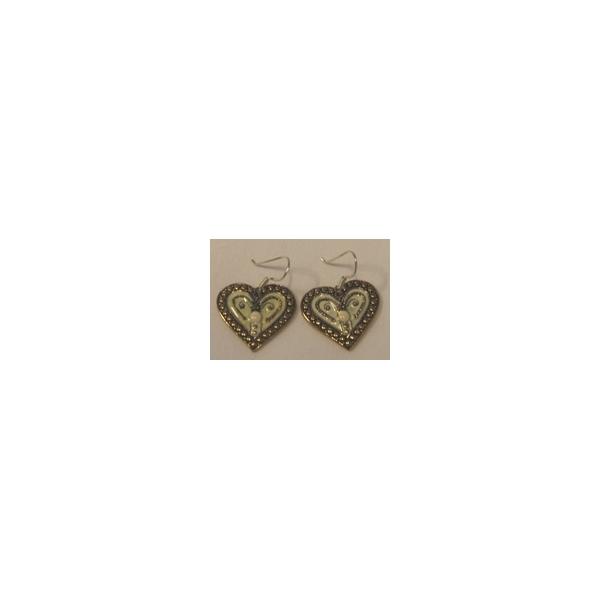Ohrgehänge Herz cremefarben