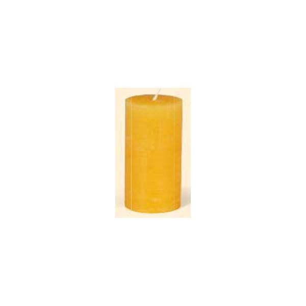 Raureifkerze Zylinder, bernstein 150/80