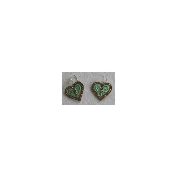 Ohrgehänge Herz grün