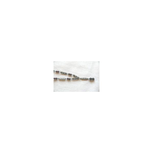 Silberhalskette mit Granat - Aktion