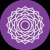 """Trinkglas Chakra - Kronenchakra - Affirmation """"Weisheit"""""""