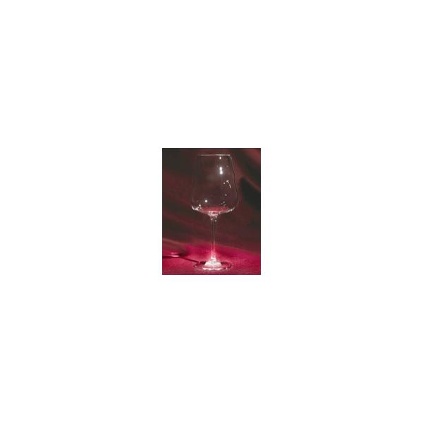 Rotweinglas, mundgeblasen, Blume des Lebens weiss, 0.5l