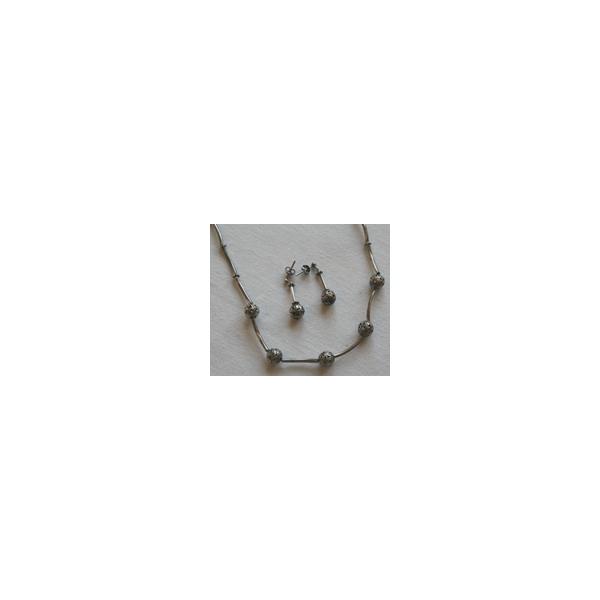 Silberkette mit Ohrsteckern - Aktion