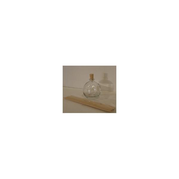 Glasflasche Globe mit Peddigstäbchen, 100ml