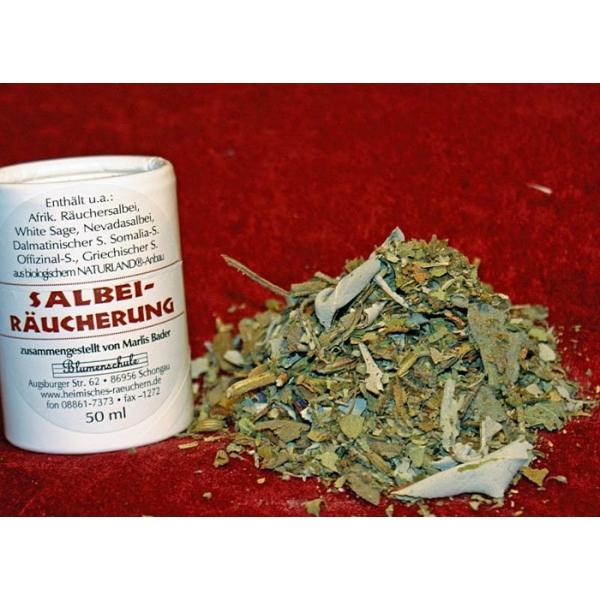 Salbeiräuchermischung Blumenschule 50 ml - Bio